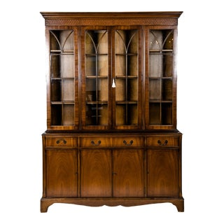 Mid-19th Century English Mahogany Wood Hutch / Cabinet For Sale