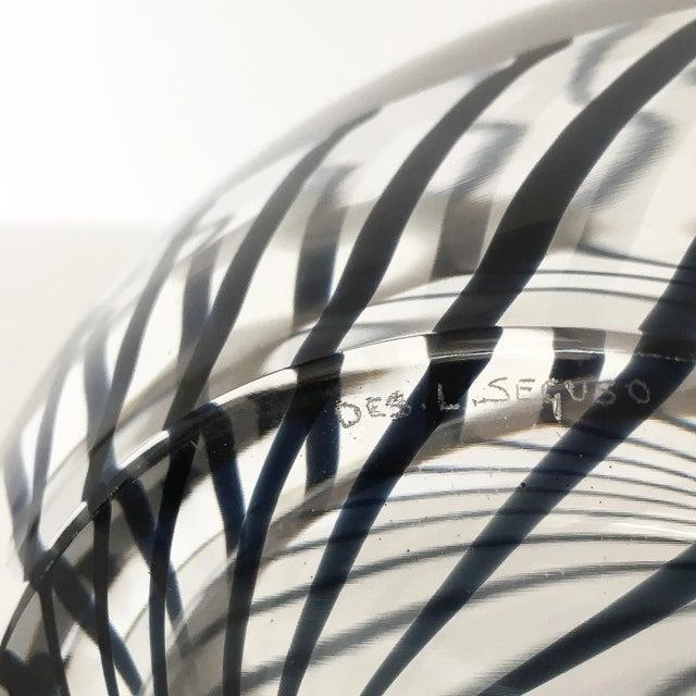 Livio Seguso Striped Murano Art Glass Vase For Sale - Image 12 of 13