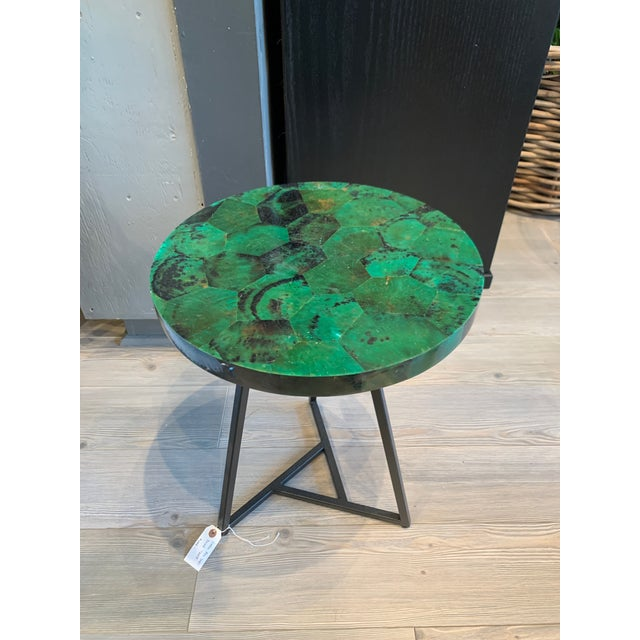 Contemporary Capiz Side/Cocktail Table For Sale - Image 4 of 7
