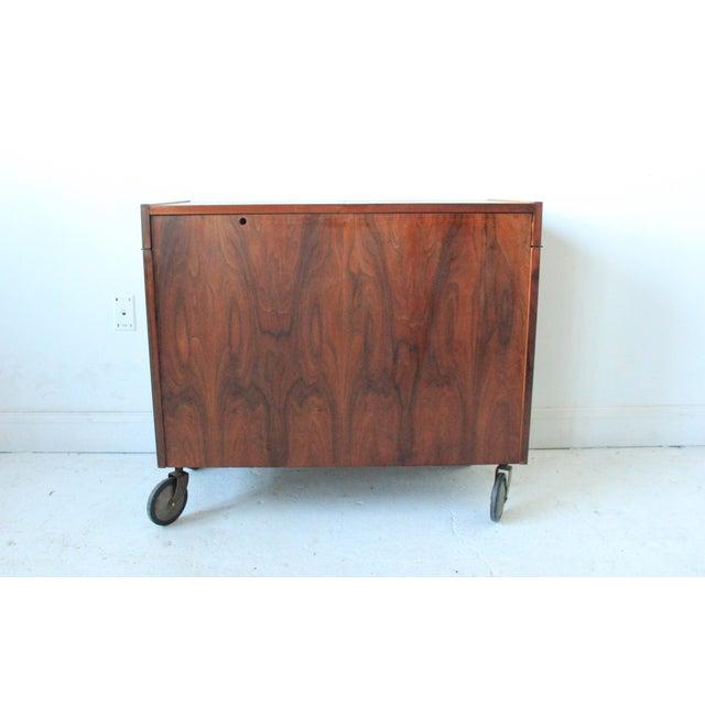 Vintage Mid-Century Rolling Bar Cabinet For Sale - Image 4 of 7