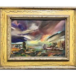 "Leora Asa ""Sunset Storm"" Framed Painting For Sale"