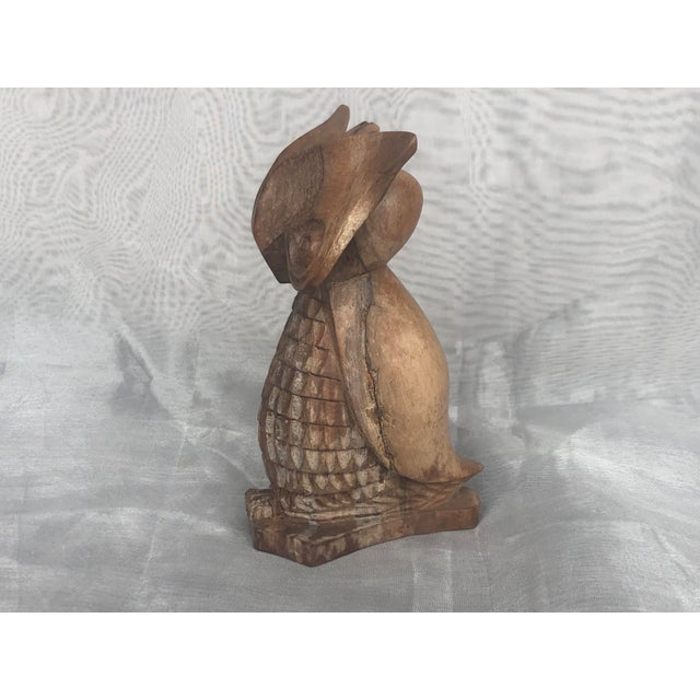 1960s 1960s Carved Wood Owl Statue For Sale - Image 5 of 12