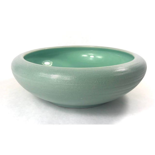 Mid 20th Century Vintage Mid-Century Sea Foam Green Red Wing Pottery Bowl For Sale - Image 5 of 5