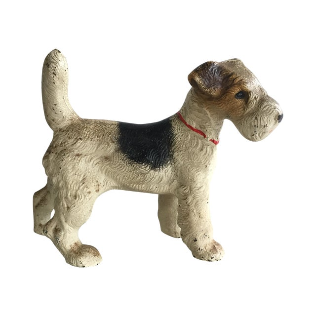 Cast Iron Painted Terrier Figurine - Image 1 of 4