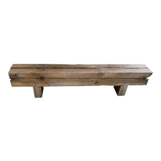 Custom Made Rustic Reclaimed Beam Bench For Sale