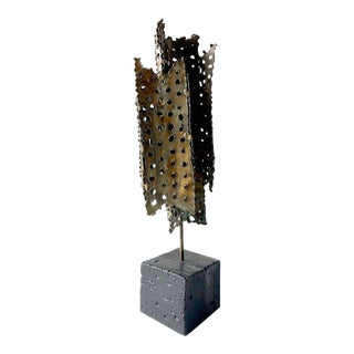 Tom Greene Mid-Century Modernist Perforated Metal Sculpture For Sale