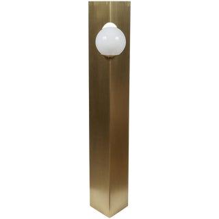 Paul Marra Brass Solitaire Floor Lamp For Sale