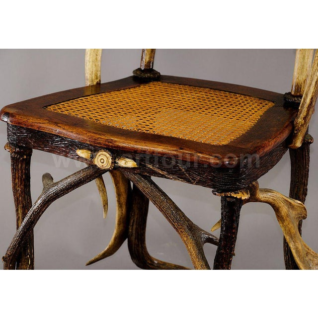 Antique Cabin Decor Antler Parlor Chair Ca. 1900 For Sale - Image 4 of 6