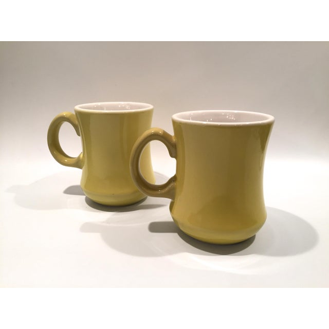 Mid-Century Green Mugs - A Pair - Image 4 of 6
