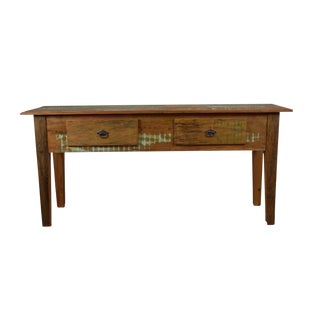 Reclaimed Wood Console Table For Sale