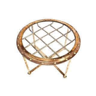 Rare Original Nautical Brass Ship's Porthole Converted to Table