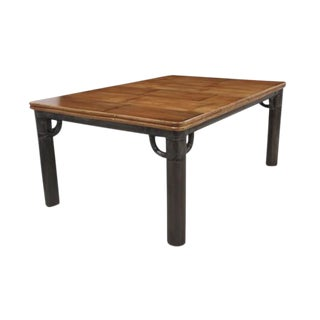 Grey Brushed Bamboo Dining Table For Sale