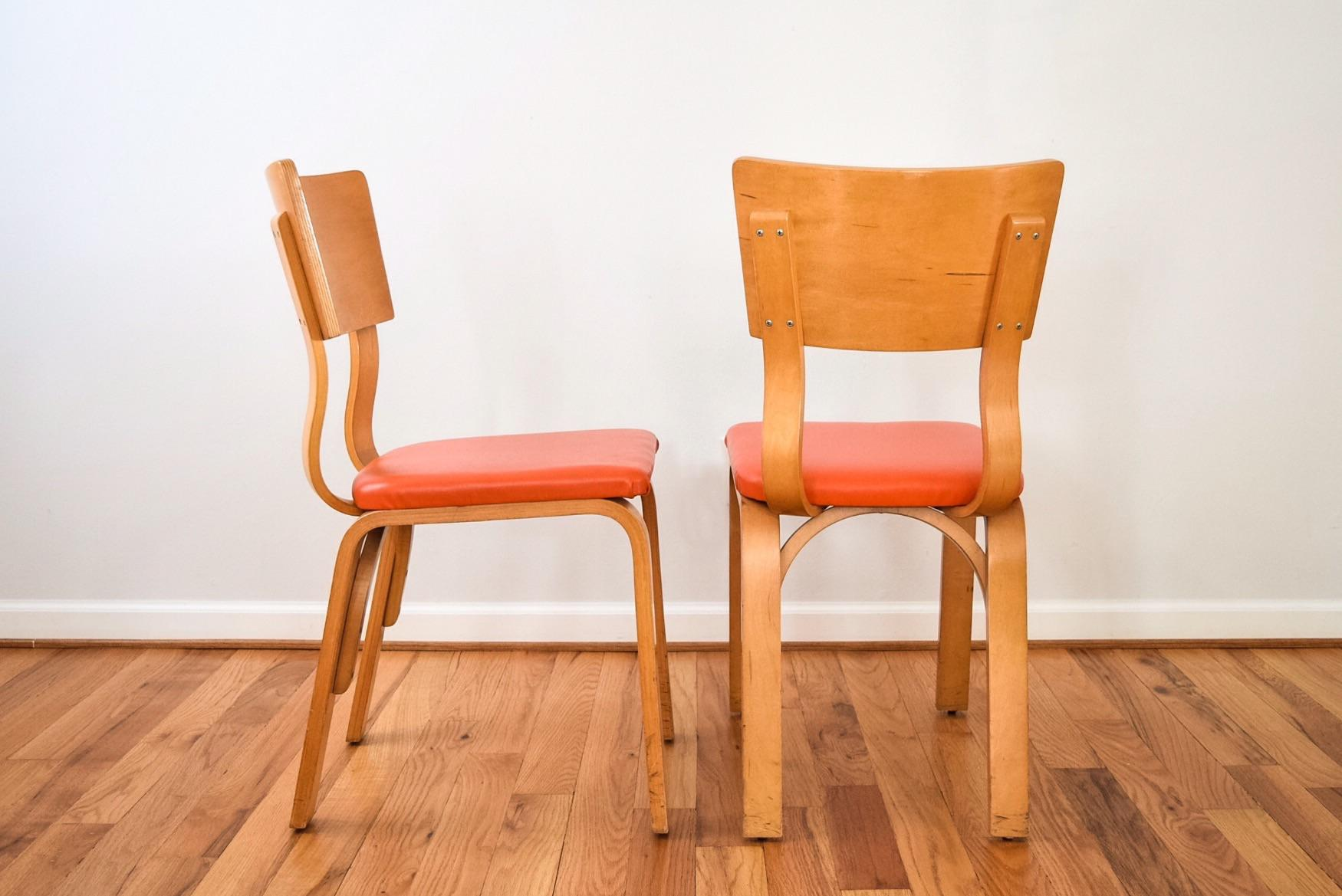 Mid Century Thonet Bentwood Plywood Chairs   A Pair   Image 6 Of 8