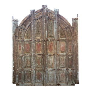 Old Jodhpur Carved Entrance Doors For Sale