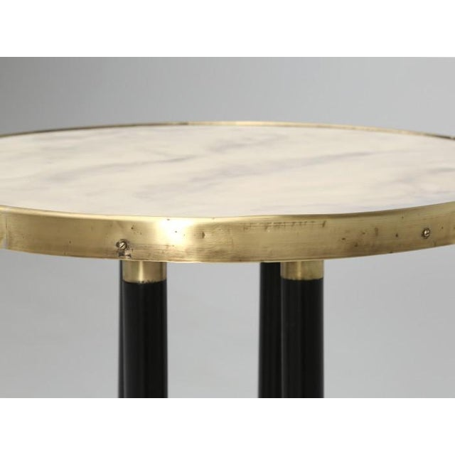 Antique French Empire Side Table Ebonized For Sale - Image 11 of 13