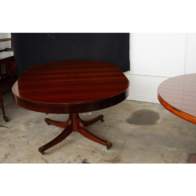 Metal Midcentury Italian Convertible Dining Table With Self Containing Leaf For Sale - Image 7 of 9