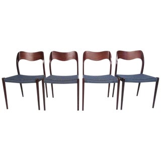 "Mid-Century N.O. Møller ""71"" Dining Chairs - Set of 4 For Sale"