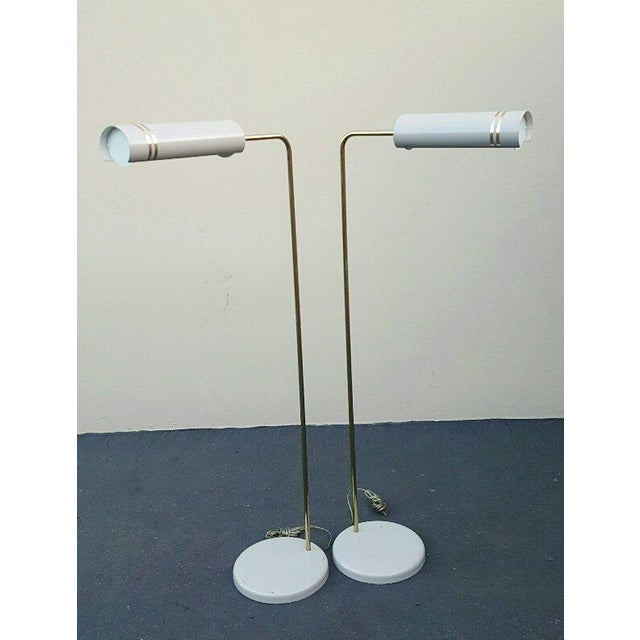 Mid Century Rare Stylized Space Age Gerald Thurston Reading Floor Lamps - a Pair For Sale - Image 10 of 11