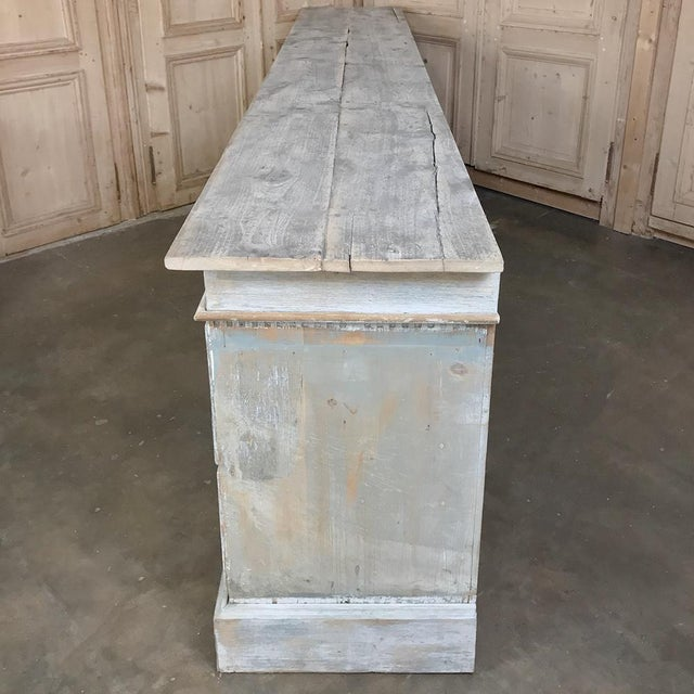 Mid 19th Century Grand 19th Century Apothecary Store Counter For Sale - Image 5 of 13