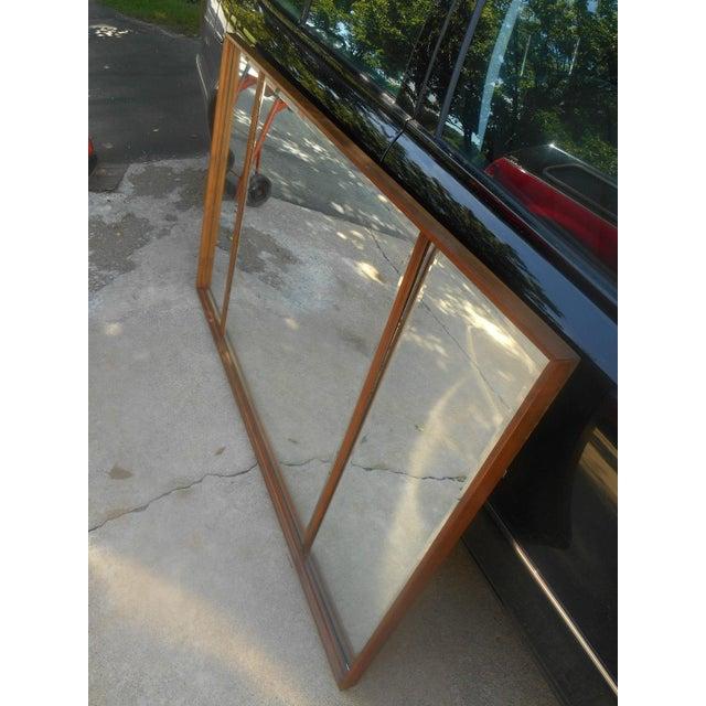 Mid-Century Modern Triple Beveled Dresser Mirror - Image 4 of 5