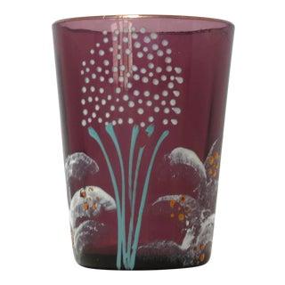 Antique Victorian Purple Glass Tumbler For Sale