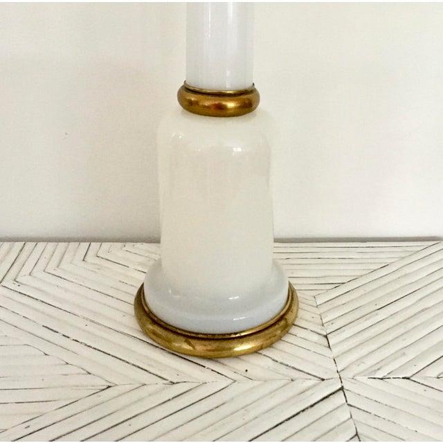 White 1950s Warren Kessler Nyc White Milkglass Opaline Table Lamp For Sale - Image 8 of 12