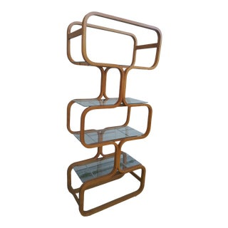 Mid Century Modern Bentwood Etagere For Sale