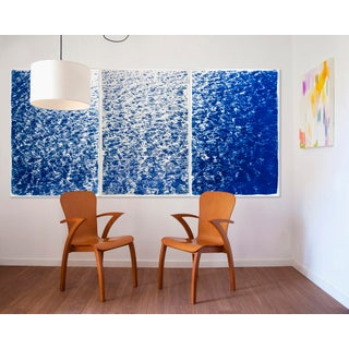 "Triptych ""The Cove"" / Cyanotype Print on Watercolor Paper / Limited Edition / 100 X 210 CM Preview"