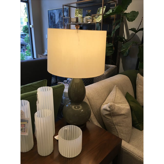 Wildwood Green Crackle Glazed Lamp - Image 3 of 4