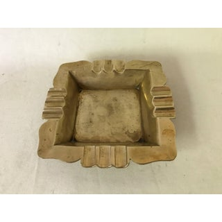 Vintage Art Deco Hollywood Regency Square Brass Ashtray Preview