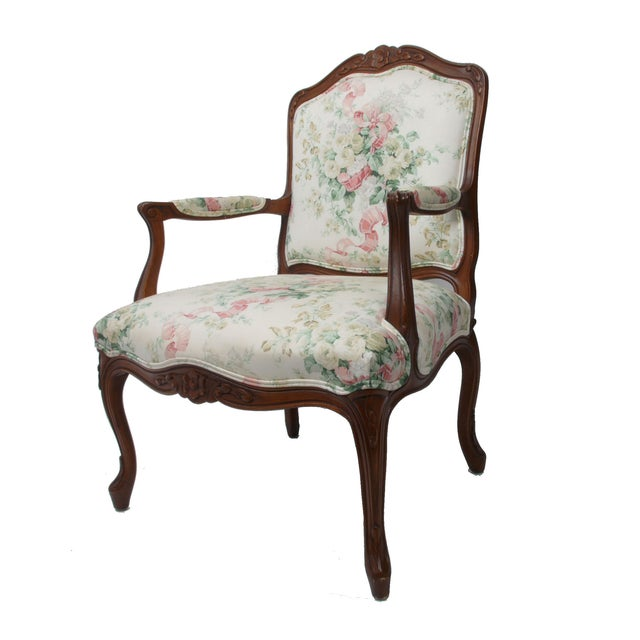Hollywood Regency-Style Wood Arm Chair - Image 2 of 10