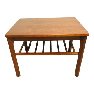 1960s Danish Modern 2 Tier Teak Side Table by Toften Mobelfabrik For Sale
