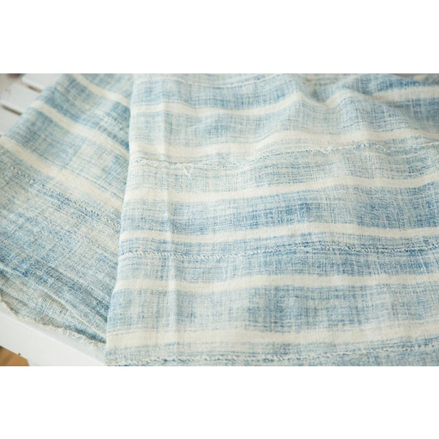 """African Vintage African Textile Throw - 3'7"""" X 5'1"""" For Sale - Image 3 of 4"""