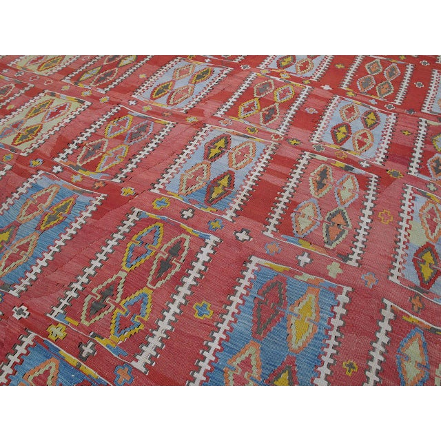 Very Large and Exceptional Antique Sivas Kilim For Sale - Image 4 of 10