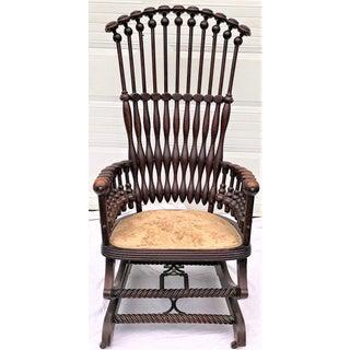 "Late 19th Century George Hunzinger Highback ""Lollipop"" Platform Rocking Chair Preview"