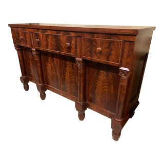 Early 19th Century Empire Mahogany Sideboard For Sale