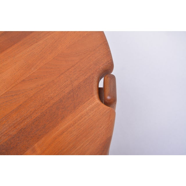 Scandinavian Round Coffee Table in Solid Teak, 1970s For Sale - Image 6 of 10