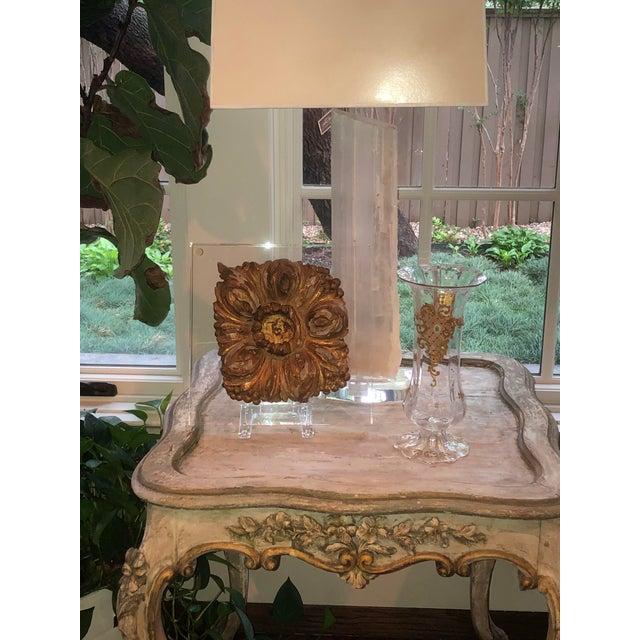 Glass Moser Jeweled Enameled Crystal Vase For Sale - Image 7 of 8