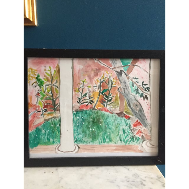 Contemporary Pen & Watercolor Painting - Image 6 of 6