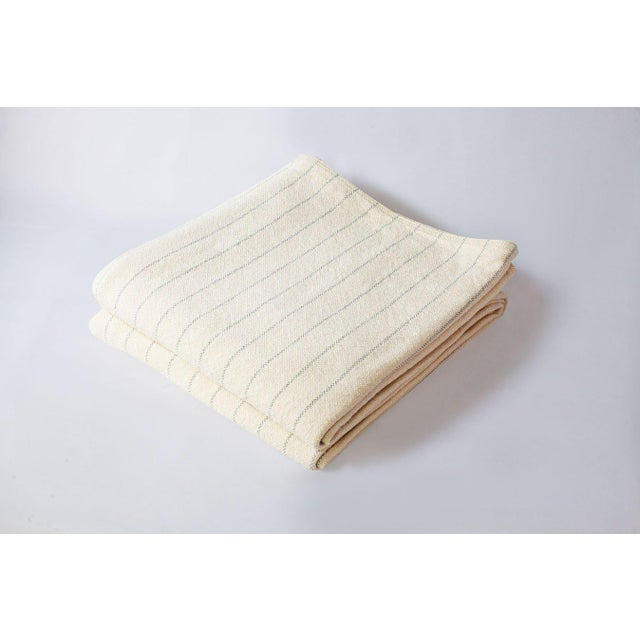 2010s Contemporary Twin Pinstripe Grey Blanket For Sale - Image 5 of 5