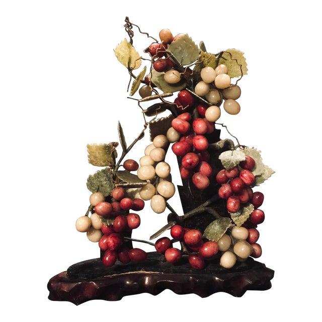 Vintage Jade Grape Tree Large Bonsai Vine Sculpture Chairish