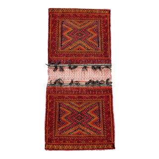 Antique Baluchistan Wool Tribal Saddlebag Rug
