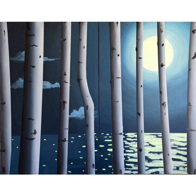 Moon, Birch, Water - Image 1 of 7