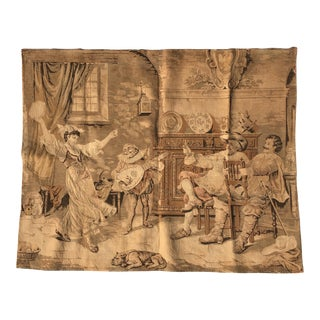 1900's Dancing 18th Century Scene Tapestry