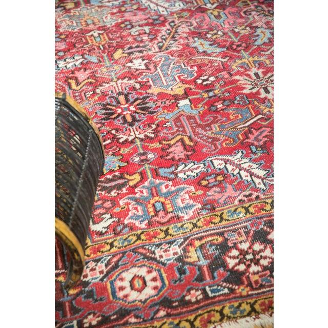 "1960s Vintage Heriz Carpet- 7'6"" X 10' For Sale - Image 5 of 12"