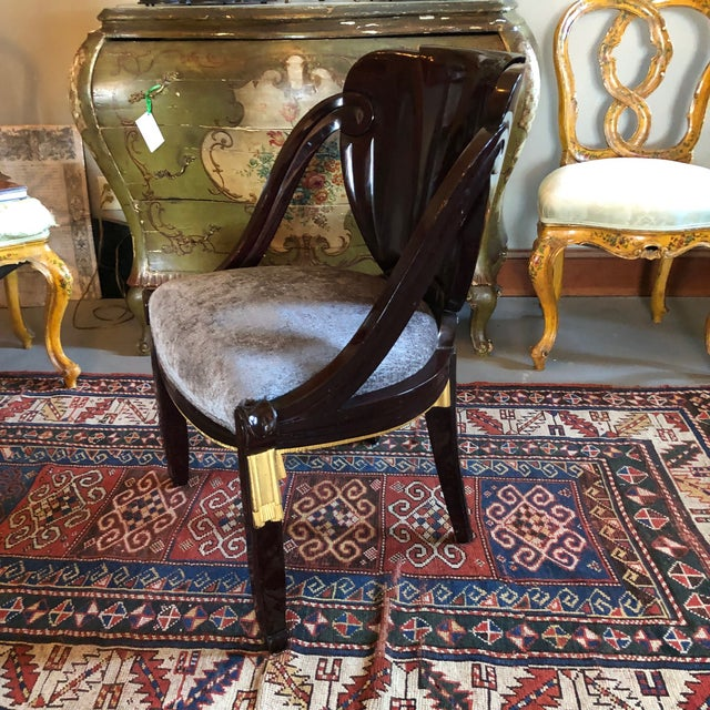 1920s 1920s Vintage Sue Et Mare David Weill Art Deco Side Chair For Sale - Image 5 of 13