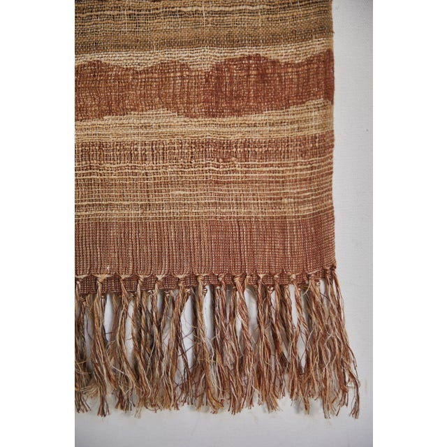 Contemporary Indian Handwoven Throw Ocean Stripe Warm For Sale - Image 3 of 5