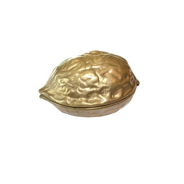 Vintage Brass Walnut Nutcracker - Image 1 of 6