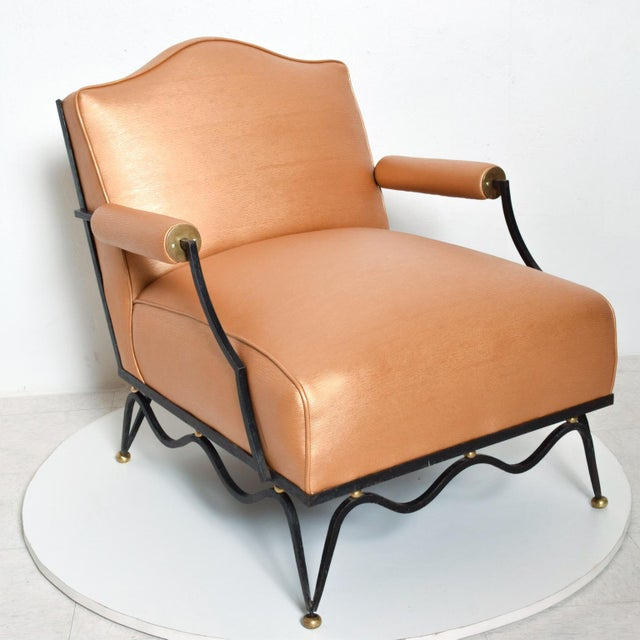 Mexican French Neoclassical Revival Mexican Modernist Arm Chairs Attr Arturo Pani - a Pair For Sale - Image 3 of 12