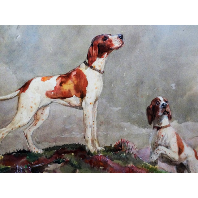 Acrylic Sporting Dogs in a Highland Landscape For Sale - Image 7 of 9